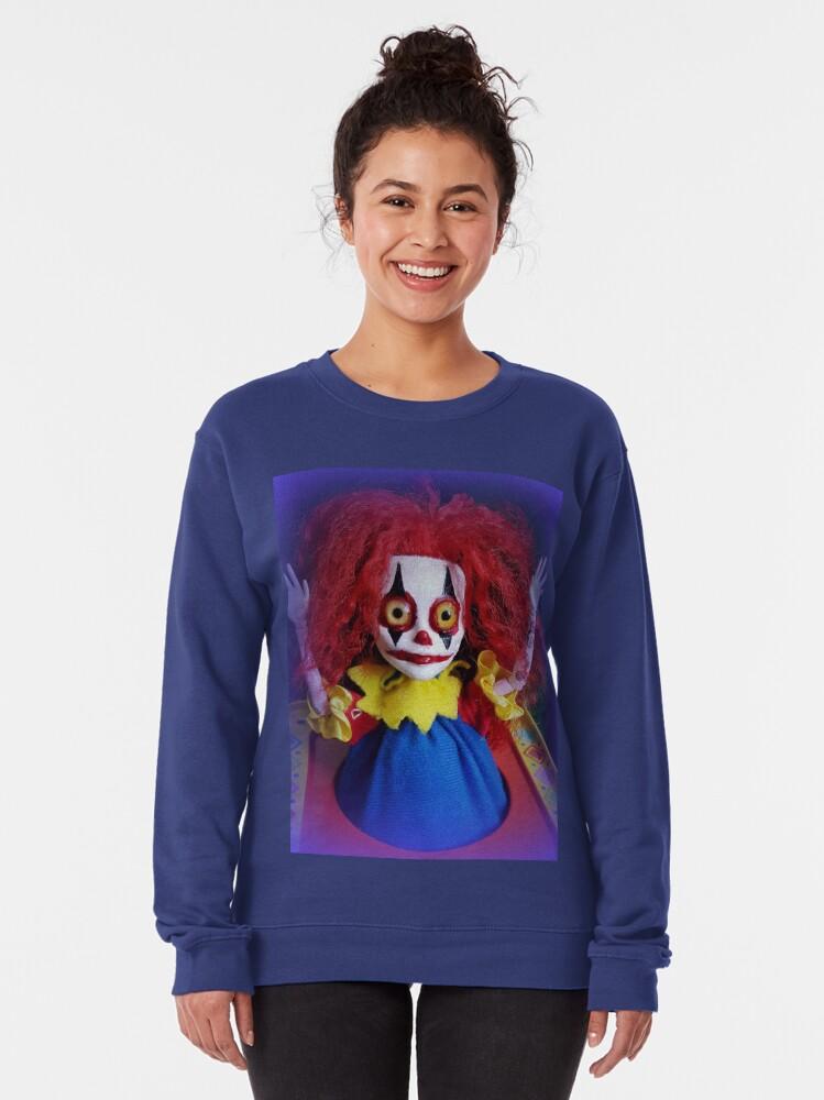Alternate view of Jack In The Box Clown Horror Doll ~ Lady Scream Pullover Sweatshirt