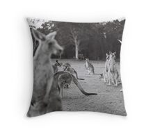 Le lapin et le kangourou Throw Pillow