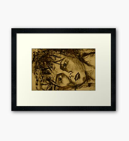 Alone and Scared Framed Print