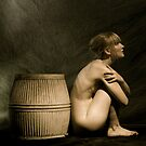 Sitted Nude with Victorion Wash Tub by MarkBigelow