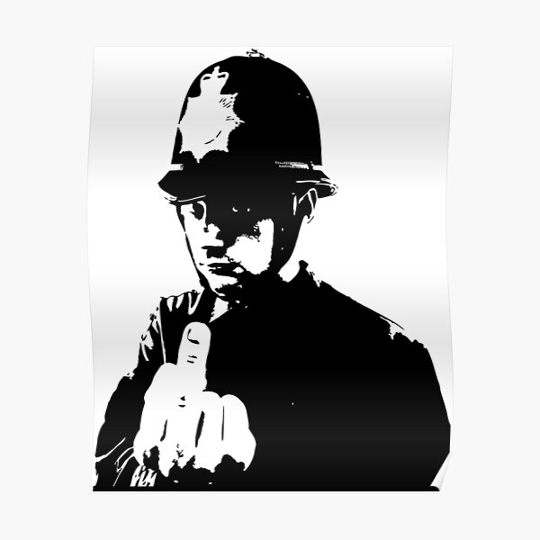 policier Banksy Poster