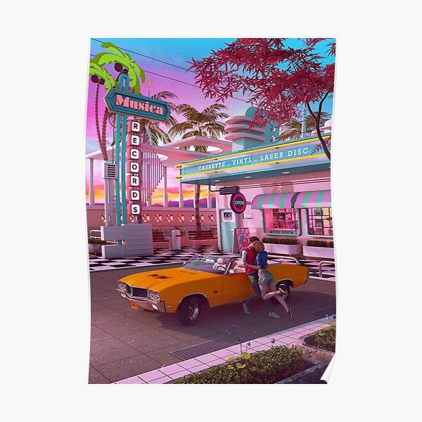 First Kiss 80s Nostalgia Poster