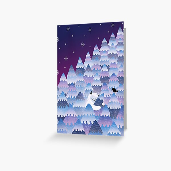 Tree Hugger (Night version) Greeting Card