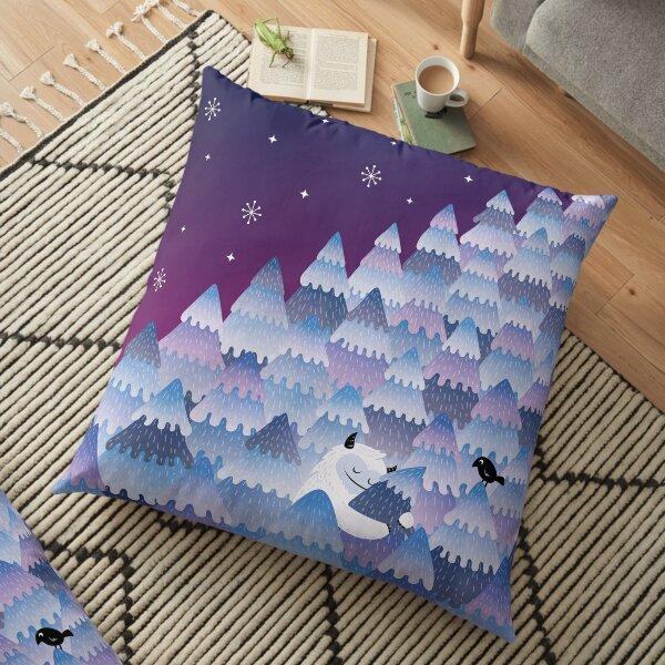 Tree Hugger (Night version) Floor Pillow