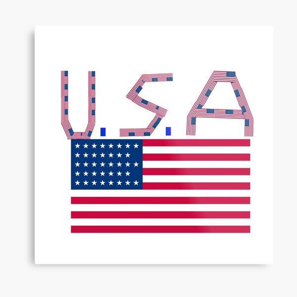 U. S. A logo design Metal Print