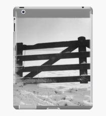 Fence in snow landscape iPad Case/Skin