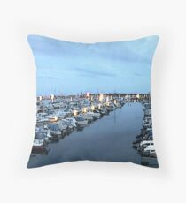 """Sailboats - Bergen, Norway"" Throw Pillow"