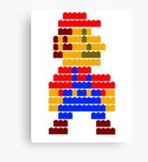 8-bit brick mario Canvas Print