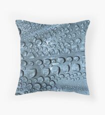 Natural condensation from leftover bottle Throw Pillow