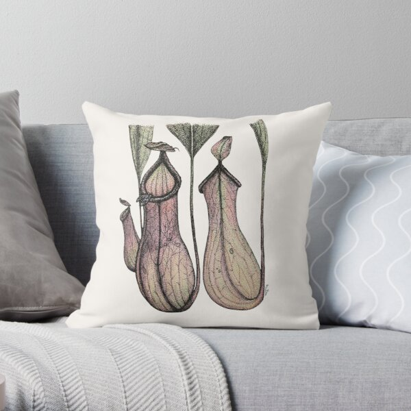 Nepenthes × ventricosa Throw Pillow