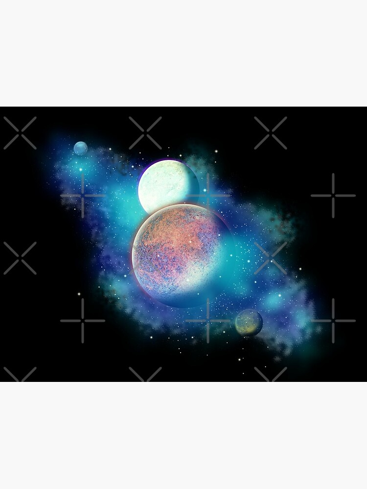 Colorful Galaxy Planets Greeting Card By Discord1225 Redbubble