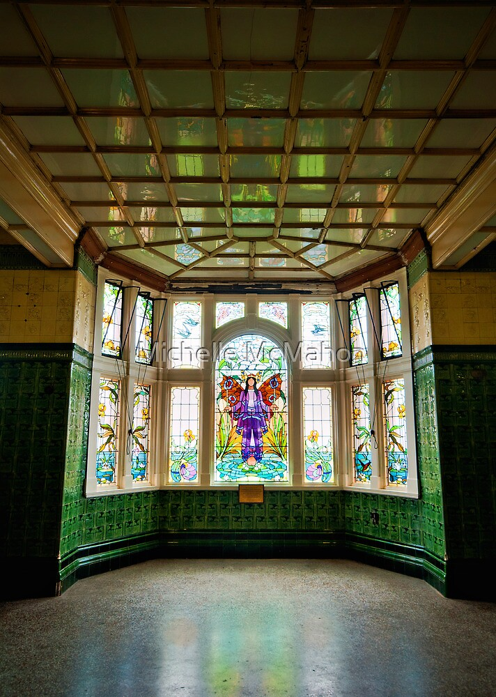 stained glass window.. by Michelle McMahon