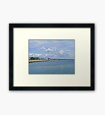Summer Clouds Over Narragansett Beach  Framed Print