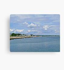 Summer Clouds Over Narragansett Beach  Canvas Print