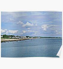 Summer Clouds Over Narragansett Beach  Poster