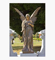 Benediction – Mountain View Cemetery Angel Photographic Print