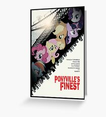 Ponyville's Finest Poster Greeting Card