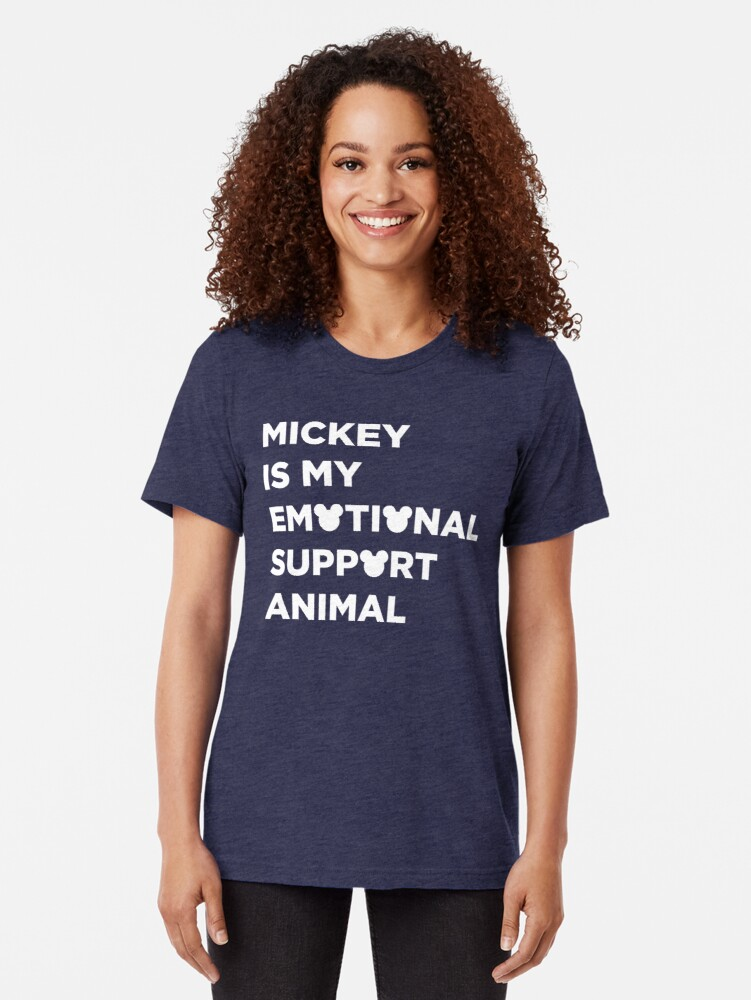 Alternate view of Support Animal Tri-blend T-Shirt