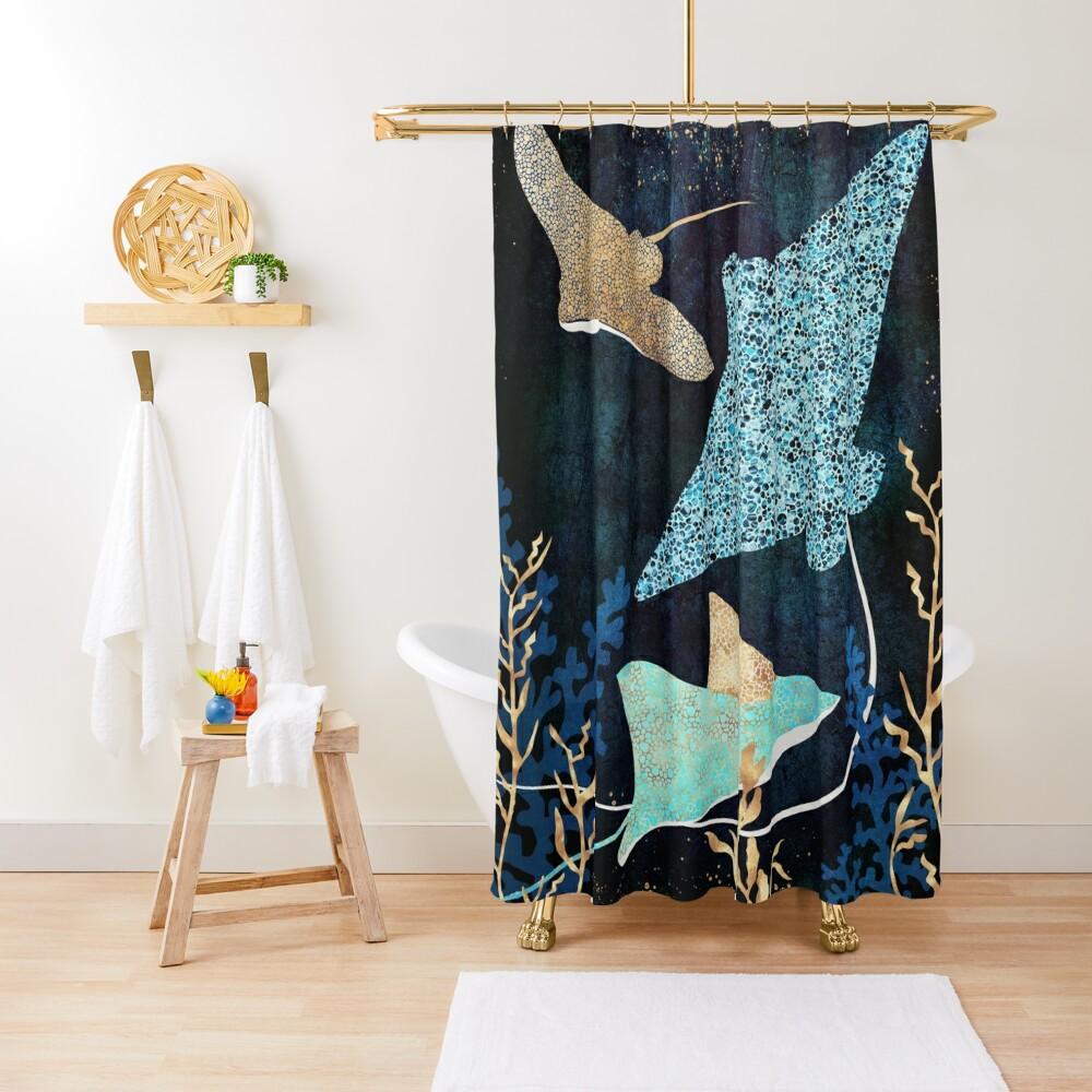 Metallic Stingray II Shower Curtain