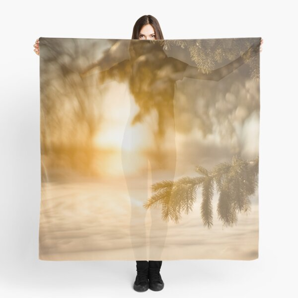 Dreamy Winter Scene Scarf