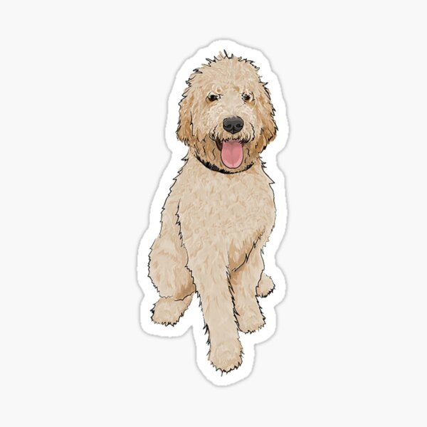 Golden Doodle Glossy Sticker