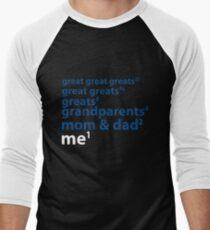 Me to the Power of 1   Blue Men's Baseball ¾ T-Shirt