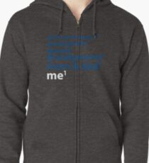 Me to the Power of 1 | Blue Zipped Hoodie