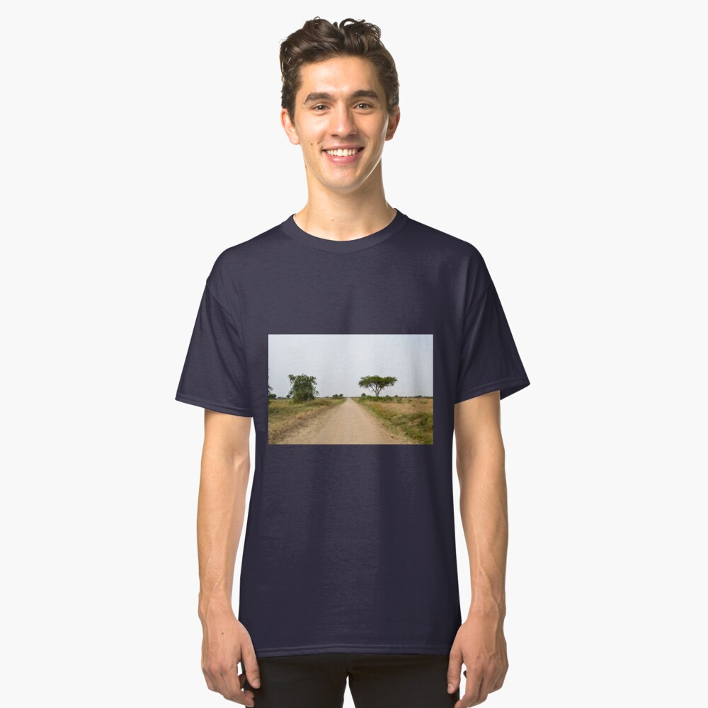 road in the African savanna Classic T-Shirt Front