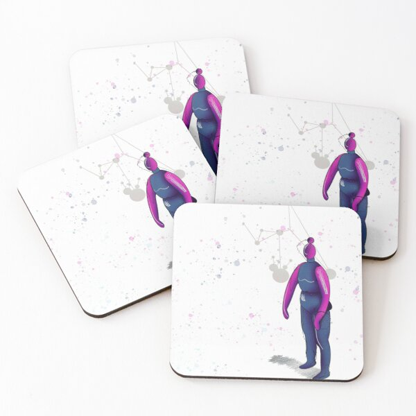 Cosmic Mannequin Coasters (Set of 4)