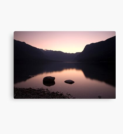 Lake Bohinj sunset Canvas Print