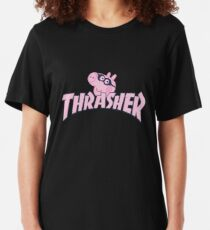 Best Seller - Peppa Pig Skateboard Merchandise Slim Fit T-Shirt