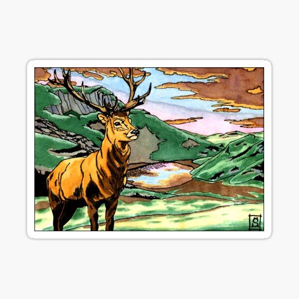 The plains deer Sticker
