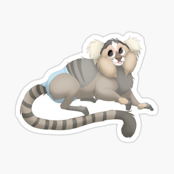 Simon the cute marmoset monkey Sticker