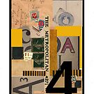 Dada Tarot- 4 of Coins by Peter Simpson