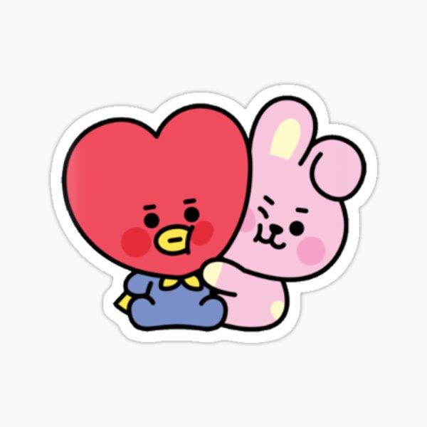 Baby BT21 Cooky Hugs TATA Sticker