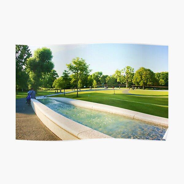 Memorial Fountain. Princess Diana Poster