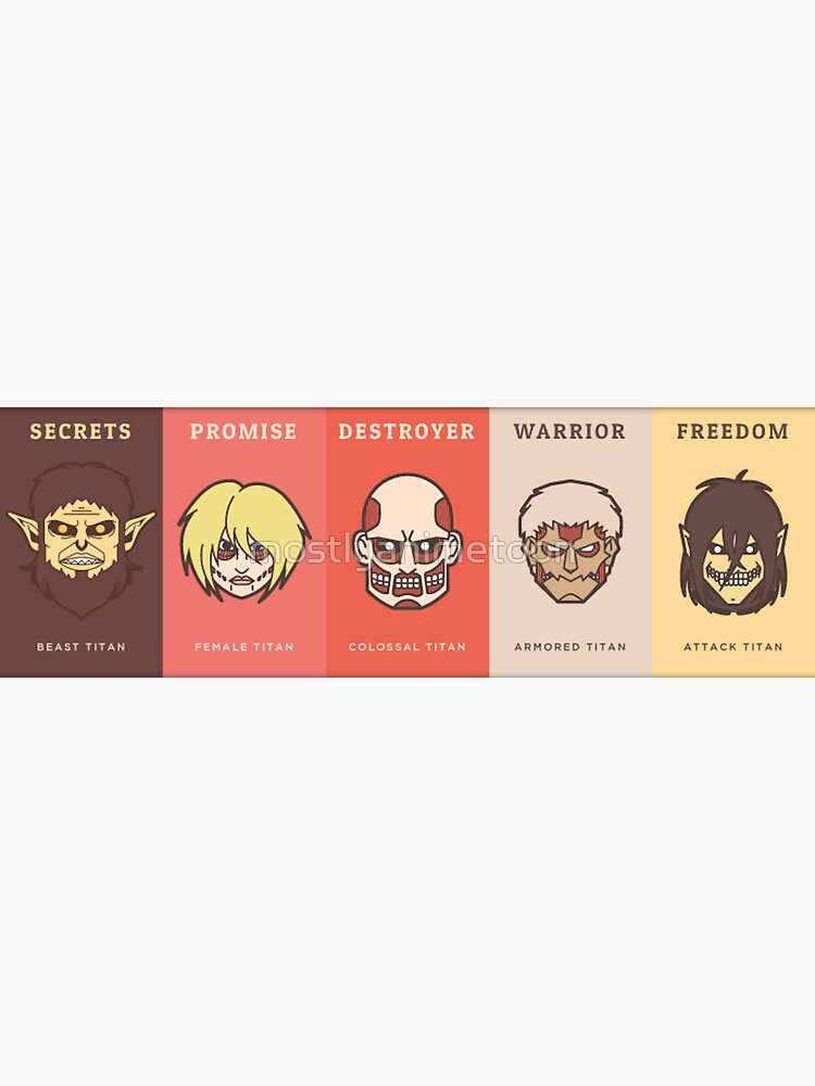 """""""attack on titan banner"""" Sticker by mostlyanimetoon ..."""