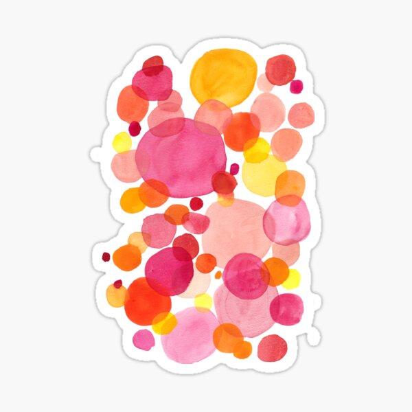 Petals, watercolor drops on vibrant spring colors Sticker