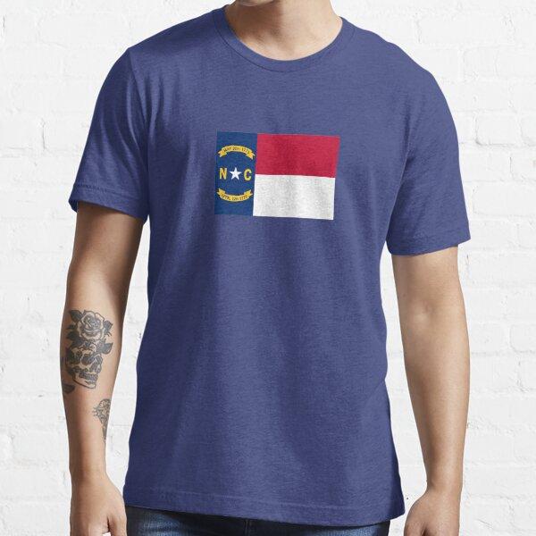 North Carolina USA State Charlotte Flag Bedspread T-Shirt Sticker Essential T-Shirt