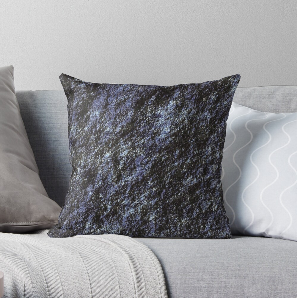 Decorations with blue shiny stone Throw Pillow