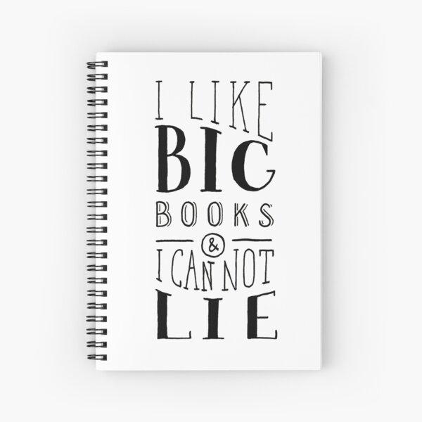 I Like Big Books (White) Spiral Notebook