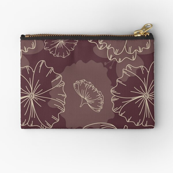 Floral Butterfly Collection Spring Seamless Surface Pattern Zipper Pouch