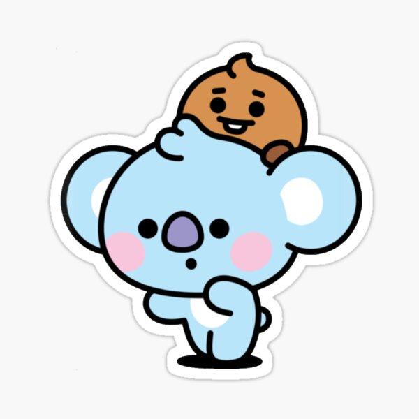 Baby BT21 Koya and Shooky Sticker