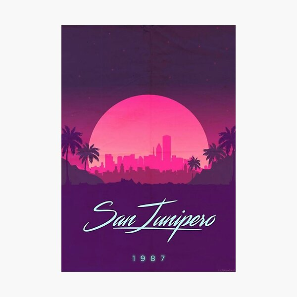 San Junipero 1987 Photographic Print