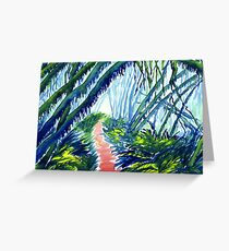 Watercolour of Forest with Hanging Moss Greeting Card