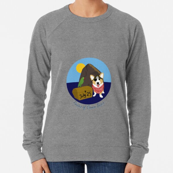 2020 - Pirates of Cannon Beach Single Corgi Lightweight Sweatshirt