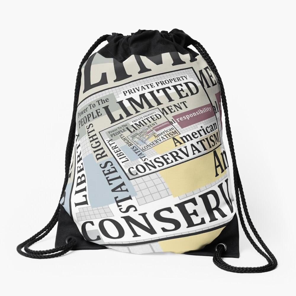 Limited Government Drawstring Bag