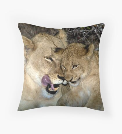 Bonding with love Throw Pillow