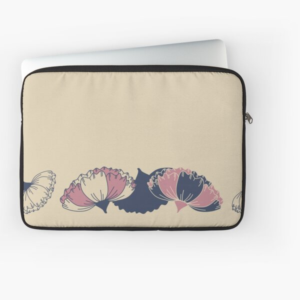 Floral Butterfly Collection Spring Seamless Border Surface Pattern Laptop Sleeve