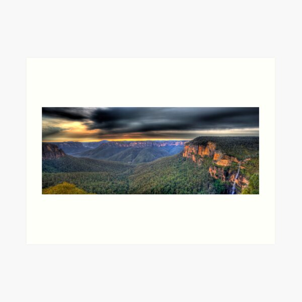 Govetts Leap Sunrise Panorama Art Print